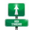high standard road sign illustration design