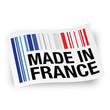 "Etiquette ""Made in France"" (code barre)"