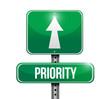 priority road sign illustration design