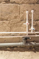 process of repair of bathroom (pipes, isolators and sewer)