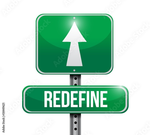 redefine road sign illustration design