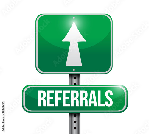 referrals road sign illustration design