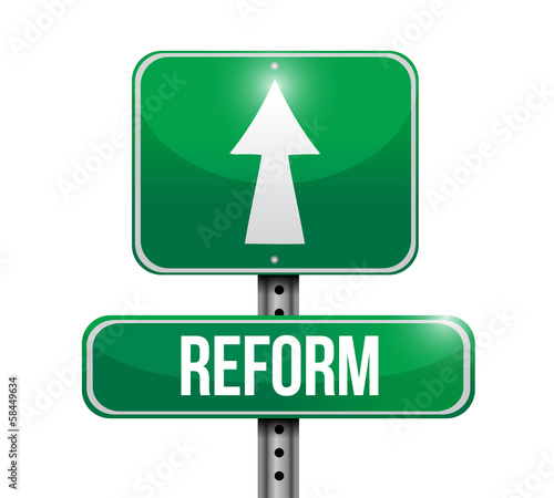 reform road sign illustration design