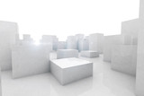 abstract blocks city - 58450280