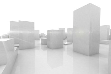 abstract blocks city