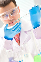 Scientific research in the lab