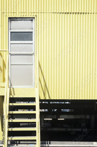 Yellow Industrial Stairs