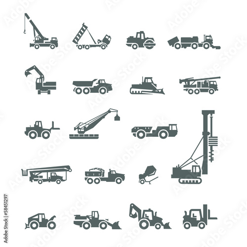 Construction machinery. Vector format