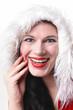 Weihnachtsfrau lachend