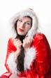 Weihnachtsfrau mit Kragen