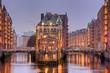 Leinwanddruck Bild - Speicherstadt in Hamburg