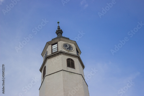 Clock tower symbolizing erection power 2