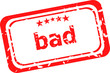 bad word on red rubber grunge stamp