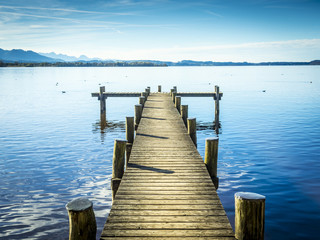 Jetty at the Chiemsee © Wolfgang Zwanzger