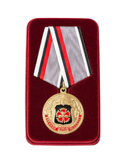Russian service medal isolated on white background
