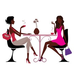 ladies sitting in cafe