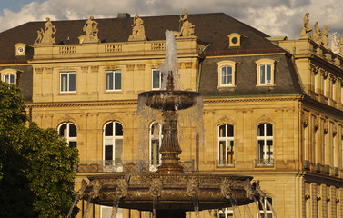 Fountain at Castle square in Stuttgart