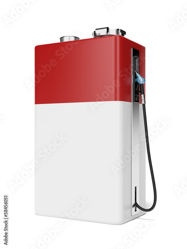 gas station as red battery