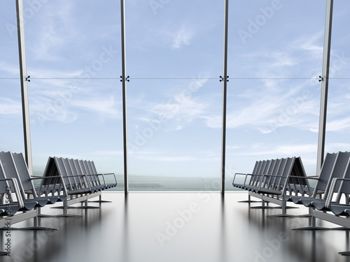 Fotobehang Luchthaven departure lounge at the airport