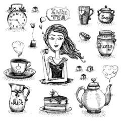 The love of tea scene