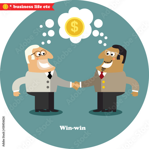 Business handshake big deal