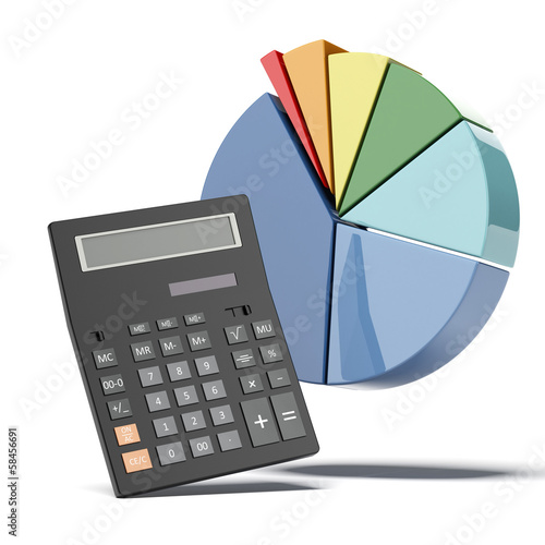 calculator with diagram