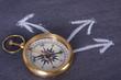 Leinwanddruck Bild - compass, travel concept