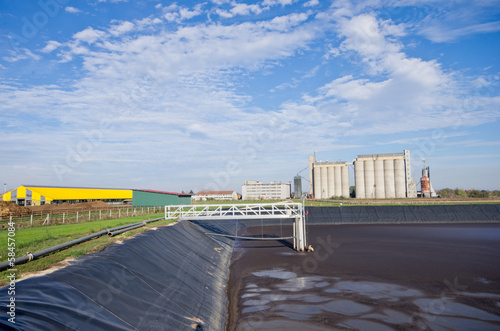 Liquid cow manure in a storage pit