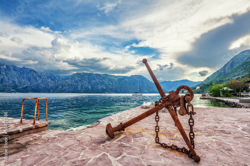 Old anchor on the waterfront