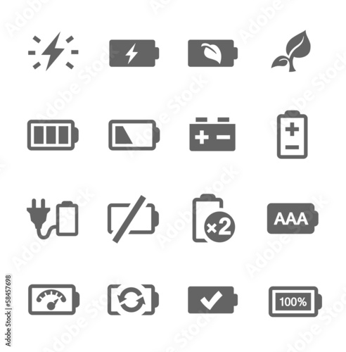 Battery icons - 58457698