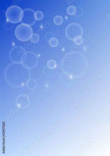 Background blue abstract circles and stars