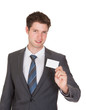 Businessman Holding Visiting Card