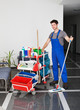 Young Man With Cleaning Equipment