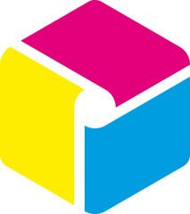 cubo cyan magenta giallo