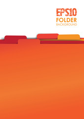 red paper folder files