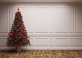 classic  Christmas interior