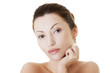 Beautiful spa woman, with healthy clean skin