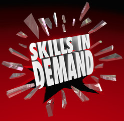 Skills in Demand 3D Words Needed Experience