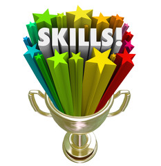 Skills Gold Trophy Best Skillset Experience in Demand