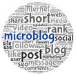 Microblog concept in word tag cloud