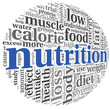 Nutrition concept in tag cloud