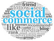 Social media commerce conept in word tag cloud