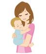 母子 笑顔