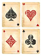 Grunge poker cards