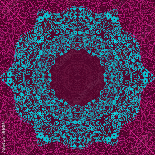 Abstract Lacy Blue element