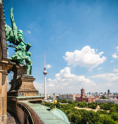 canvas print picture Berlin from above