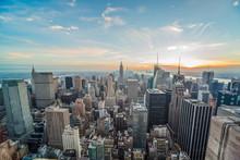Нью-Йорк Манхэттен здания небоскребы
