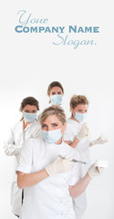 Female dentist team