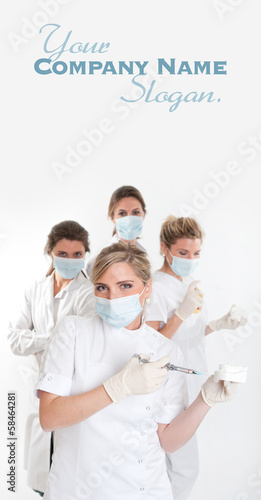 Female dentist team
