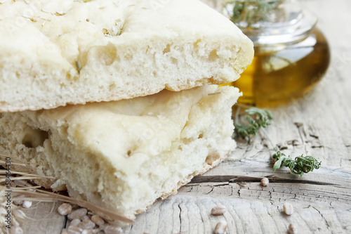 Focaccia with olive oil